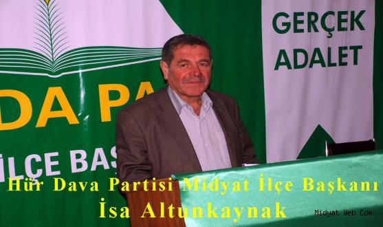 Hür Dava Partisi Midyat İlçe Teşkilatı 1. olağan kongresini gerçekleştirdi.
