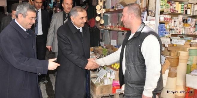 Mardin Valisi Ömer Faruk Koçak Esnaf Ziyaretinde Bulundu