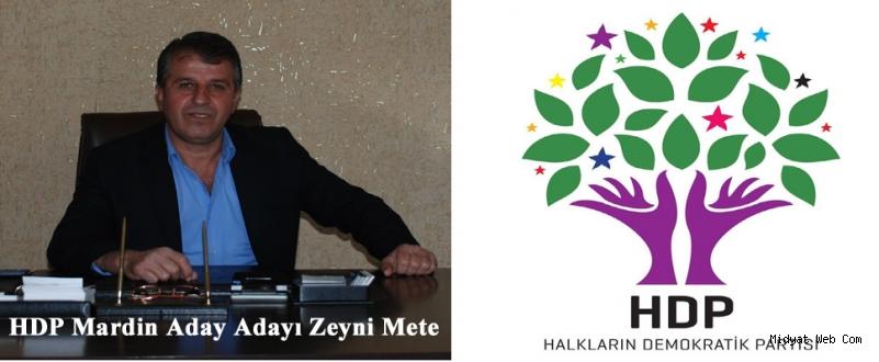 Zeyni Mete HDP Mardin Aday Adayı olduğunu açıkladı