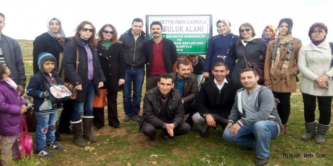 Midyat Fahrettin Önen İlkokulu Adına Koruluk Alanı Tahsis Edildi