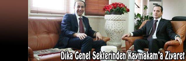 Dicle Kalkınma Ajansı Genel Sekreteri Abdullah Erim, Midyat Kaymakamına nezaket ziyareti gerçekleştirdi