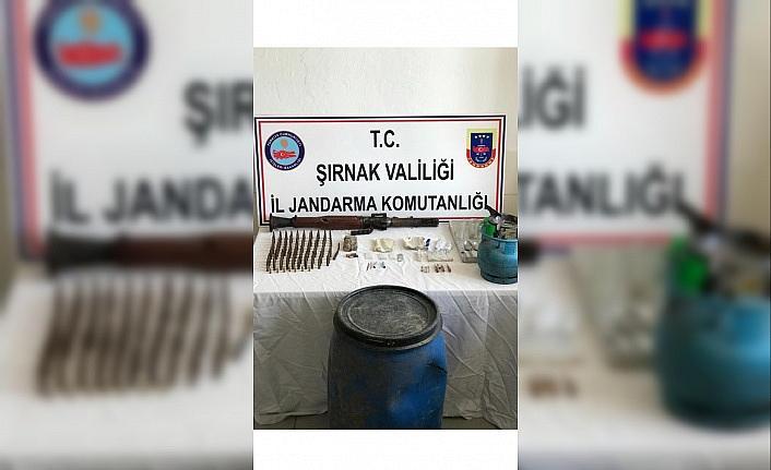 Şırnak'ta teröristlere ait silah ve mühimmat ele geçirildi