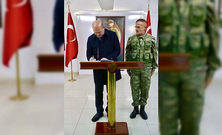 İçişleri Bakanı Süleyman Soylu'dan Suriye sınırında inceleme