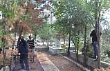 Nizip'te mezarlık temizliği