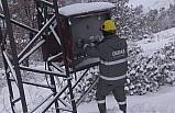OEDAŞ yoğun kış şartlarında kesintisiz enerji için çalışıyor