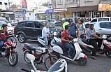 Nizip'te motosiklet denetimi