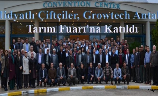 Midyatlı Çiftçiler, Growtech Antalya Tarım Fuarına Katıldı
