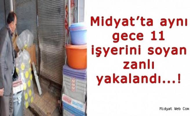 Midyat'ta Aynı Gün 11 İşyerini Soyan Şüpheli Yakalandı
