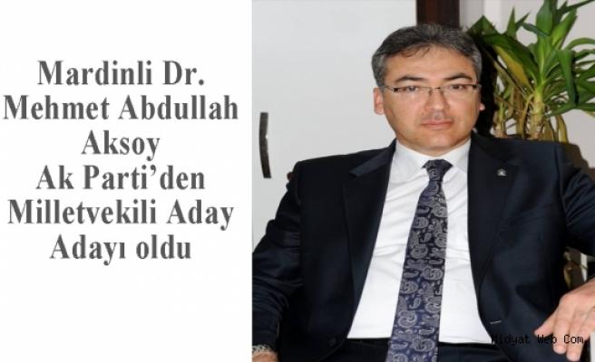 Aksoy Ak Parti Mardin den Aday Adayı