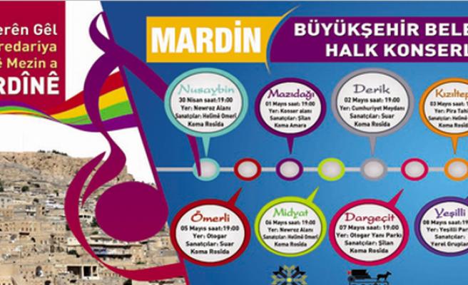 Mardin Büyükşehir Belediye'sinden Midyat'a Konser