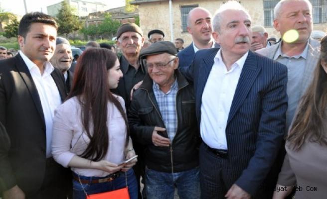 Orhan Miroğlu Gelinkaya'da Coşkuyla Karşılandı