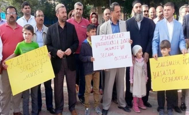 Mursinin İdam Kararı Midyat'ta Protesto Edildi