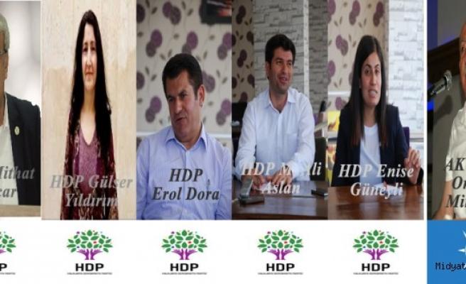 Mardin'de Hdp 5, AK Parti 1 Milletvekili Çıkardı