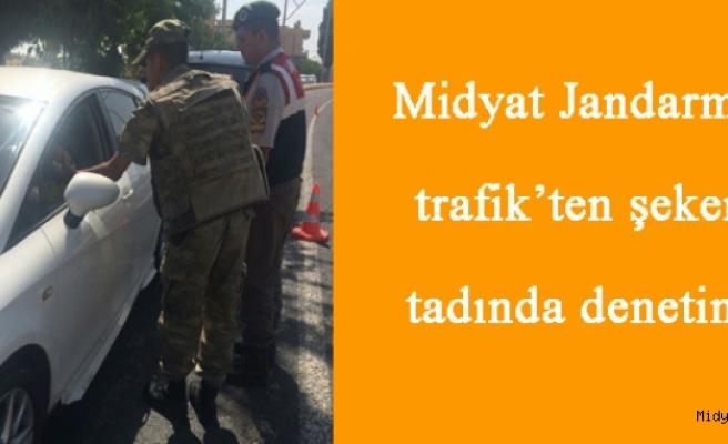 Midyat Jandarma trafik'ten şeker tadında denetim