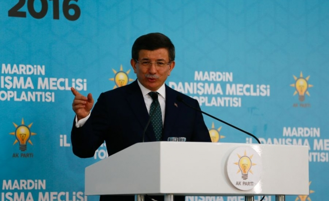 Başbakan Davutoğlu, Mardin Midyat'ta İl Danışma Meclisi Toplantısı'nda konuştu