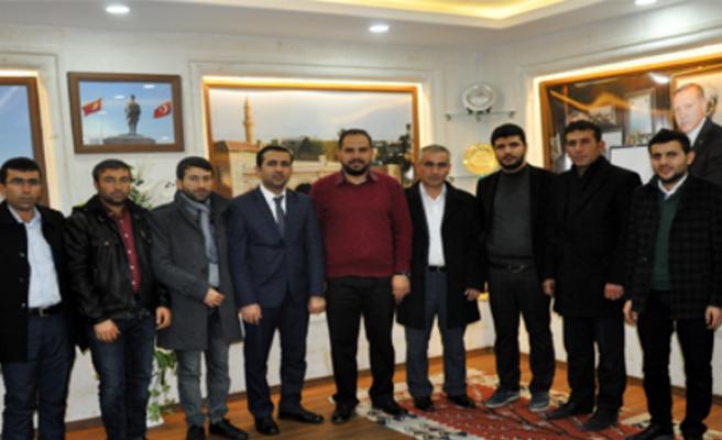 Midyat TÜGVA 'Dan Başkan Çiçek'e Ziyare