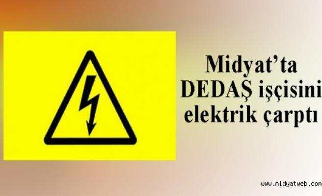 Midyat ilçesinde DEDAŞ işçisi olarak çalışan işçi elektrik akımına kapıldı.