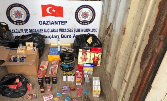 Gaziantep'te kaçakçılık operasyonu