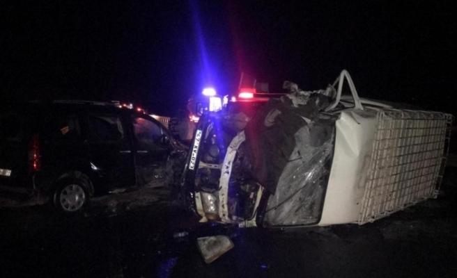 Mardin'de trafik kazası: 14 yaralı