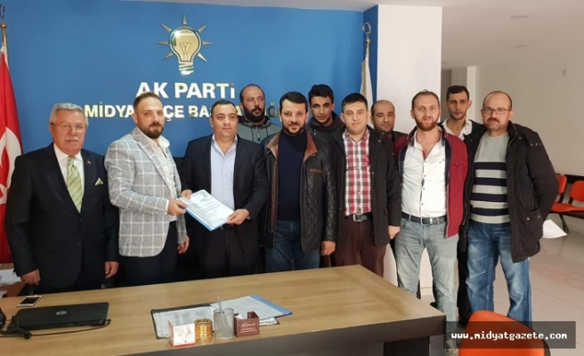 Ak Parti Midyat Belediye Başkan Adayı Murat Erdinç Başvurusunu Yaptı