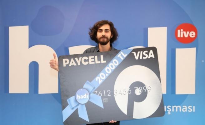 En Zor Hadi'nin kazananı ödülünü Paycell'den aldı
