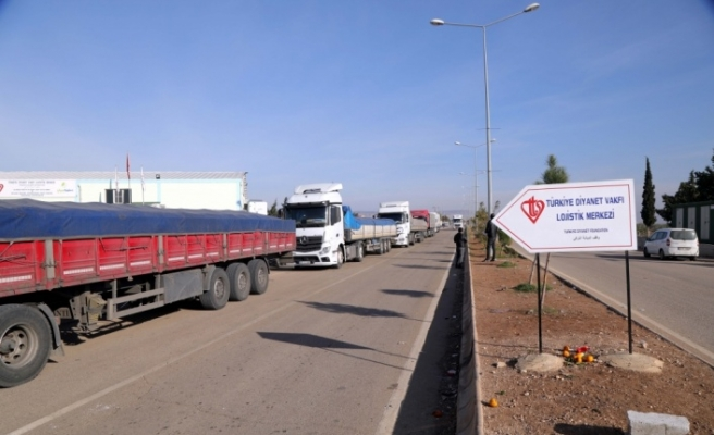 Kayseri'den Suriyelilere yardım