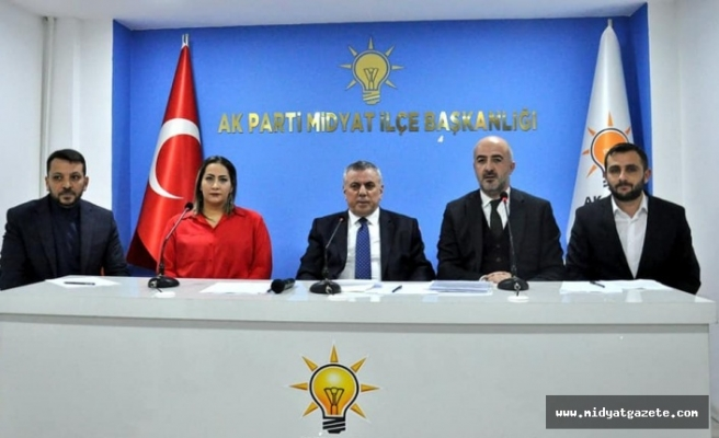 Ak Parti Midyat Belediye Başkan Adayı Veysi Şahin Basın Açıklaması Yaptı
