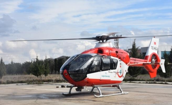 Helikopter ambulans KOAH hastası için havalandı