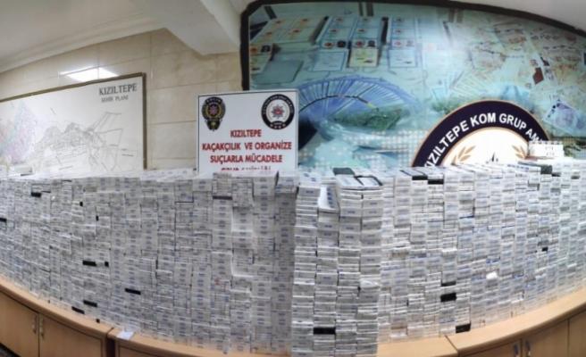 Kızıltepe'de 26 bin 400 paket kaçak sigara ele geçirildi