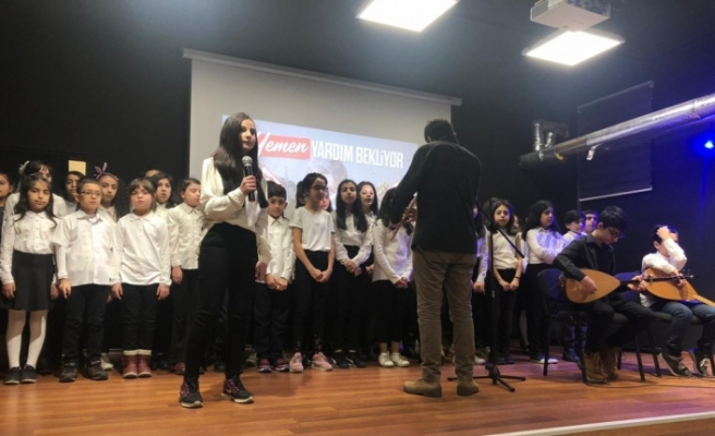Ortaokul öğrencilerden Yemen'e yardım