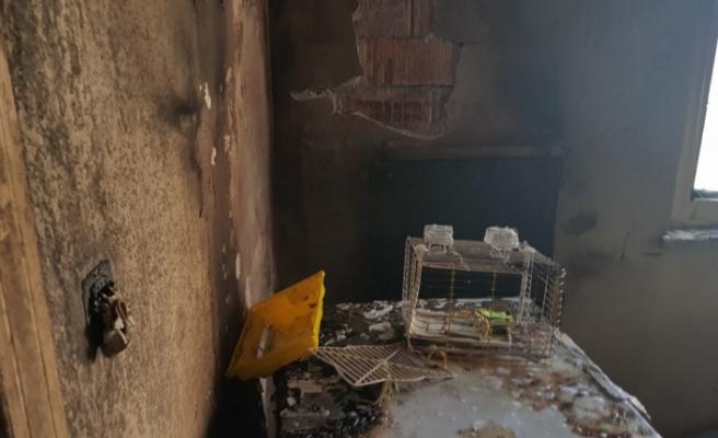 Yangında mahsur kalan 14 kişi kurtarıldı