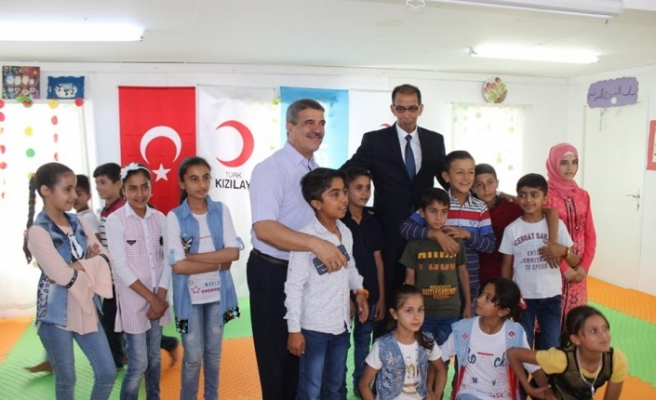 AKDENİZ-PA heyetinden Suriyelilere ziyaret