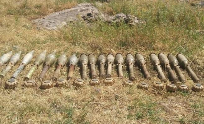 Siirt'te PKK'lı teröristlere ait patlayıcı ve mühimmat ele geçirildi