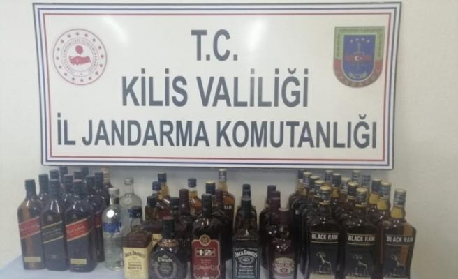 Kilis'te kaçak içki operasyonu