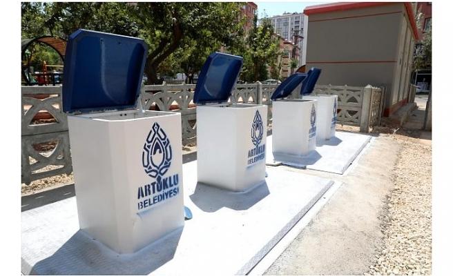 Mardin'de çöp konteynırları yeraltına alınıyor