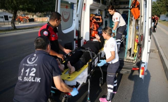 Otomobilden atlayan hamile kadın yaralandı