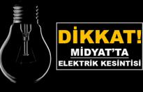 Midyat'ta Elektrik Kesintisi