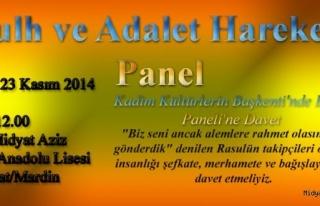 Midyat Kadim Kültürlerin Başkenti'nde Barış Paneli'ne...