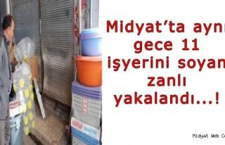 Midyat'ta Aynı Gün 11 İşyerini Soyan Şüpheli...