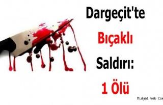 Dargeçit'te Bıçaklı Saldırı : 1 Ölü