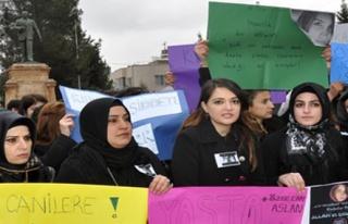 Midyat'ta Özgecan ASLAN İçin Eylem Yapıldı