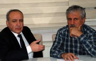 Mardin Gazeteciler Cemiyetini ziyaret eden Nihat Özkan,...
