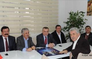 Veysi Şahin Gazeteciler Cemiyetini Ziyaret Etti