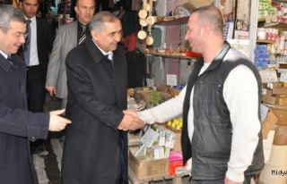 Mardin Valisi Ömer Faruk Koçak Esnaf Ziyaretinde...