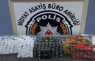 Midyat'ta Sigara Kaçakçılarına Polis Darbesi