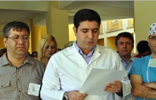 Samsun'da Doktorun Öldürülmesi Midyat'ta Protesto...