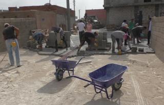 Derik Söğütözü Mahallesinde Üst Yapı Çalışması