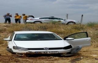 Midyat ilçesinde meydana gelen trafik kazasında...