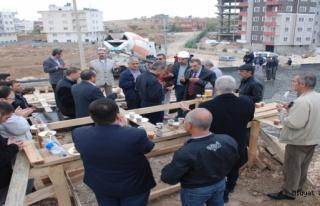 Midyat Süleyman Demirdağ Cami inşaatının temeli...