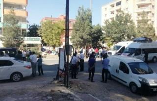 Midyat'ta merkezde meydana gelen trafik kazasında...